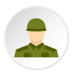 Soldier icon circle vector