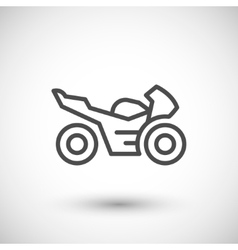 Sport motorcycle line icon vector image