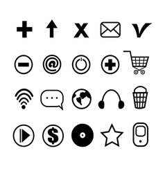 stok vektor little different icons vector image
