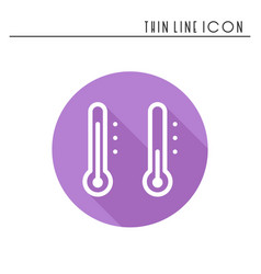 thermometer line simple icon weather symbols vector image