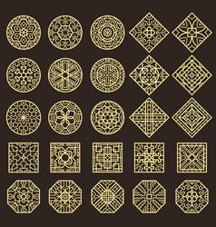 traditional korean ornament asian decoration vector image