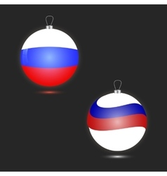 Two Christmas ball in the form of the Russian flag vector image