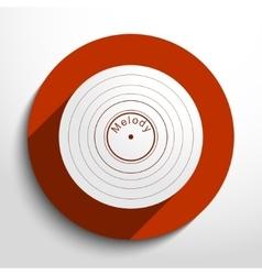 vinyl record web icon vector image
