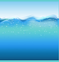 water layer vector image