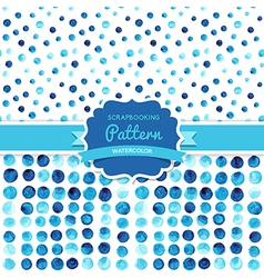 watercolor circles seamless pattern tiled Retro vector image