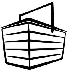 with a basket vector image