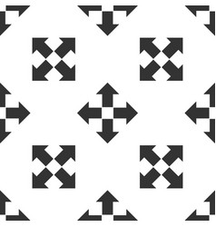 arrows in four directions icon seamless pattern vector image