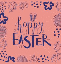 easter card poster banner brushpen vector image vector image
