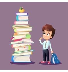 Schoolboy concept vector image