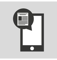 Smartphone app file social media icon vector