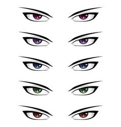 Anime male eyes2 vector image
