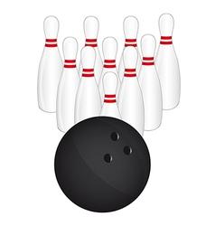 Bowling pins vector image vector image