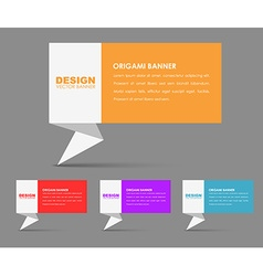 Design banners in origami style vector image