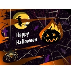 Halloween party greeting card vector image