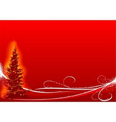 Red Christmas And White Floral vector image vector image