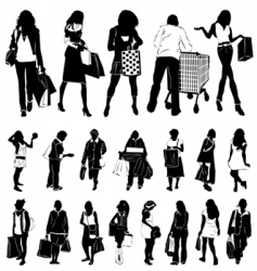 shopping women vector image vector image
