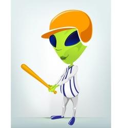 Cartoon Alien Baseball vector image vector image