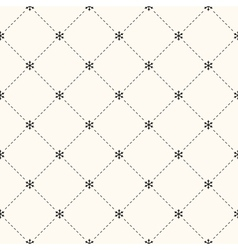 seamless winter retro pattern vector image vector image