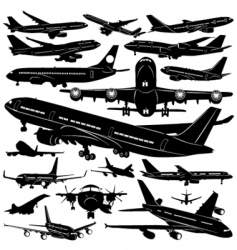 airplane collection vector image vector image