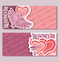 banners for happy valentines day vector image vector image