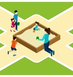 Paying On The Playground vector image vector image