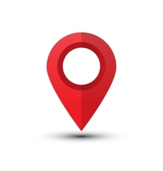 Red map pointer vector image vector image