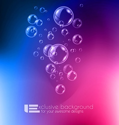 Shiny quality bubble liquid background for modern vector image