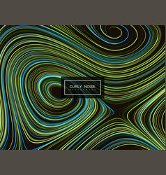 abstract artistic curl background vector image