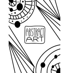 abstract geometric for coloring book cover vector image