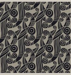 abstract hand drawn wavy seamless pattern vector image