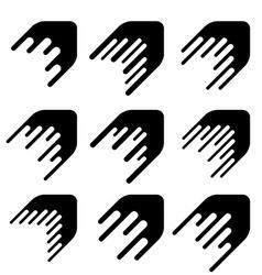 Arrow decoration motion line symbol vector