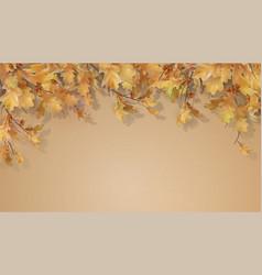autumn oak leaves branch vector image
