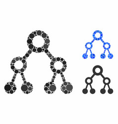 Binary tree mosaic icon spheric items vector
