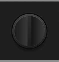 Black interface turning button vector
