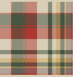 Burlap tartan fabric texture check seamless vector