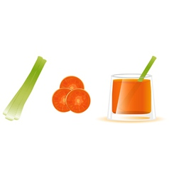 Carrot juice vector