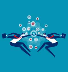 Cooperation organization collaboration concept vector