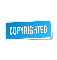 Copyrighted square sticker on white vector