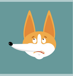Corgi confused emoji oops dog perplexed emotions vector