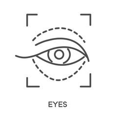 cosmetics eye area anti wrinkle injection vector image