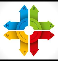 creative colorful arrow info-graphics design vector image