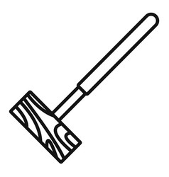 Croquet mallet icon outline style vector