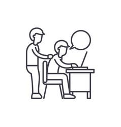 Delegation of work line icon concept delegation vector