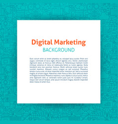 Digital marketing paper template vector