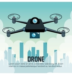 drone flying city graphic vector image