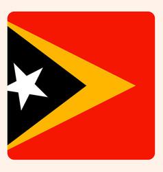 East timor square flag button social media vector