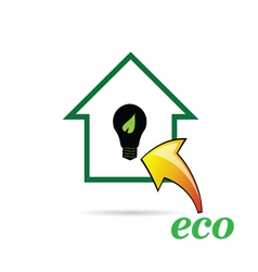 eco bulb and house vector image