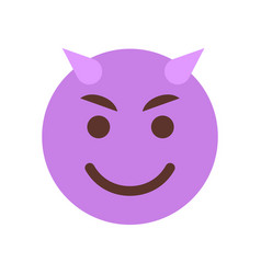 evil smiling cartoon face emoji people emotion vector image