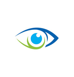 Eye vision icon logo vector