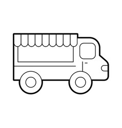 fast food shop car vector image
